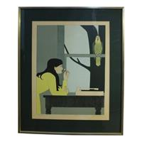 "WP-2115z: ""Silent Season- Spring"" Print by Will Barnet"