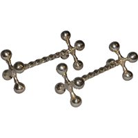 WSI-4604: Victorian Silverplated Knife Rests - A Pair