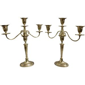 WSI-8429z: Pair of 3-light candelabras